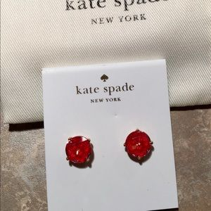 Kate Spade ♠️ Bright Ideas Red Stud Earrings